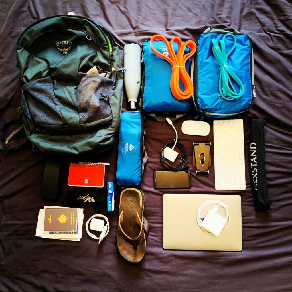 Le contenu de mon sac de digital nomad